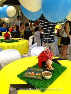 the peanuts movie party ideas Charlie Brown Thanksgiving, Charlie Brown Christmas, Snoopy Birthday Decorations, Bolo Snoopy, Charlie Brown Y Snoopy, Snoopy Party, 2nd Birthday Parties, Birthday Ideas, 7th Birthday