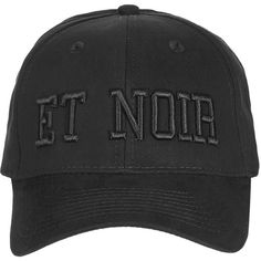 TopShop Et Noir Tonal Cap ($15) ❤ liked on Polyvore featuring accessories, hats, cap hats, embroidered hats, topshop hats, embroidery hats and embroidered caps