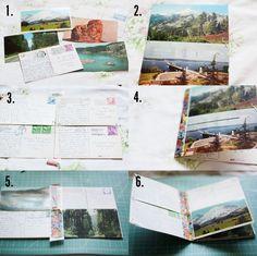 Cuaderno de viaje con postales