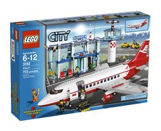 From the Manufacturer Theres so much to do at the LEGO CITY Airport! Enter the terminal through the revolving doors, check in at the ticket desk, go t. Lego City Sets, Lego Sets, Lego City Airport, Amazon Lego, Cheap Lego, Van Lego, Lego Boards, Lego City Police, Lego Architecture