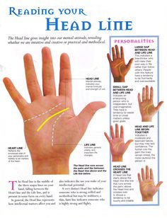 Head line palmistry palm reading divination Palmistry Reading, Tarot Reading, Reading Pa, Talk To The Hand, Palm Of Your Hand, Wiccan, Witchcraft, Fortune Telling, Practical Magic