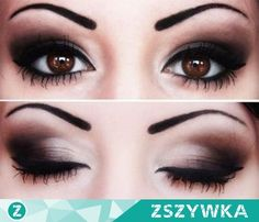 Zobacz zdjęcie make-up dla różnych kształtów oczu: migdałowych, kocich, wąskich, dużych i z opadającymi kącikami w pełnej rozdzielczości użytkownika ♥   We Heart It
