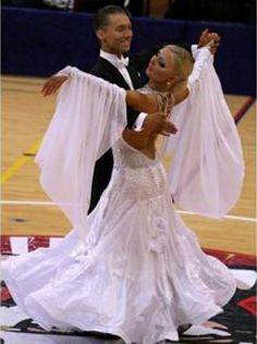 White Ballroom Dress - For Sale Selavidance.com
