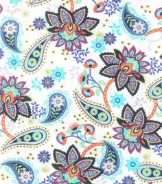 Buttercream™ Olivia Collection Cotton Fabric-Paisley Flower Patch