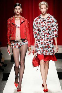 Amazing, red leather jacket -  Spring 2014 RTW : Moschino