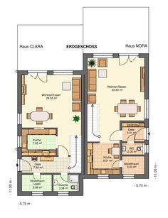 Größe wie bei uns Kowalski-Haus-Clara-Nora135 Grundriss Erdgeschoss