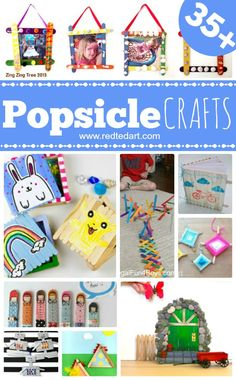 35+Craft Stick Crafts - Easy Crafts for Kids - Red Ted Art