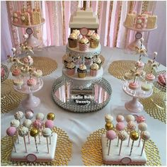Delicious treats at a carousel baby shower party! See more party planning ideas at CatchMyParty.com!