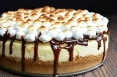 S'Mores Cheesecake Recipe 2 from willcookforsmiles.com