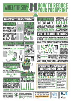 An infographic for UNEP's World Environment Day 2013 sharing techniques for reducing food waste.
