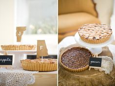 Vermont Bride and Alabama Groom = no wedding cake and a delicious pie station instead. Yummy!   | The Sonnet House | Photo by Simple Color