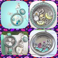 #Happiness is….#shopping the beautiful new Origami Owl Spring Collection and finding the perfect #Charms to make your Living #Locket bloom!