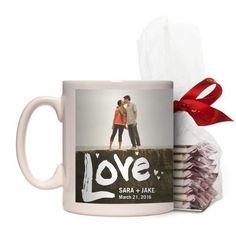 Full of Love Mug, White, with Ghirardelli Peppermint Bark, 11 oz, White