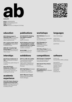The Top Architecture Rsum CV DesignsSubmitted By Andrea Bit