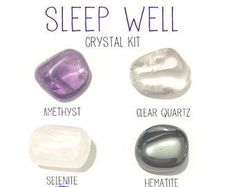 Sleep well insomia crystal kit 4 tumbled stones with canvas bag