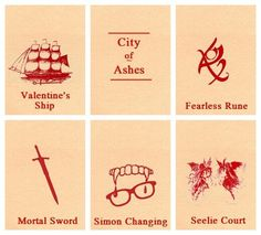 City of Ashes: Valentine's Ship: Pretty cool part. Fearless Rune: Awesomest part in the book. Mortal Sword: Oh my gosh it almost kills Simon! Simon Changing: Actually good for him. Seelie Court: Ruled by the worst character ever. Book Tv, Book Nerd, The Book, Book Series, Mortal Instruments Books, Immortal Instruments, Jace Lightwood, City Of Ashes, Clary And Jace