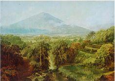 Abdullah Suriosubroto (1878-1941) - Pemandangan Jawa Tengah