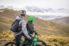 Fat Bike heli-biking in autumn. Fly up, bike down. Central Otago, Fat Bike, South Island, Alps, Mountain Biking, Autumn, Fall, All Terrain Bike