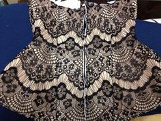 matching fabric pattern to underbust corset