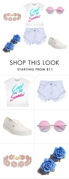 """The real summer look"" by ladasiap ❤ liked on Polyvore featuring One Teaspoon, Vans, BaubleBar and Tarina Tarantino"