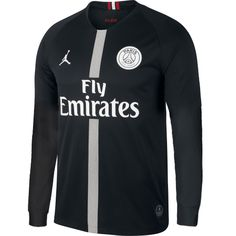 PSG 18 19 Champions League Black Men Long Sleeve Soccer Jersey Personalized  name and number a91773190