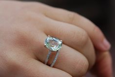Green Aquamarine Engagement Ring oval cut 4k by EidelPrecious Or is this #1?!