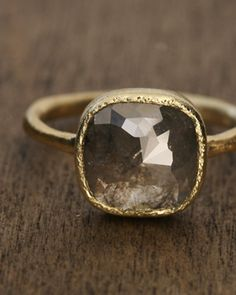 grey diamond ring.