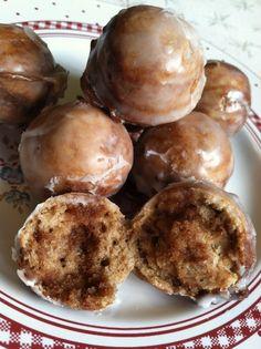 cake pop maker recipes: strawberry lemon poppyseed puffs, corn fritters, cinnamon roll drops, & banana beignets.