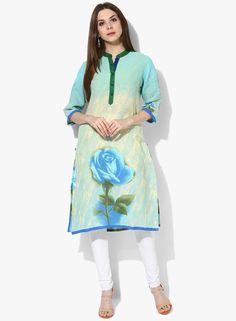 Shree Multicoloured Printed Polyester Kurta