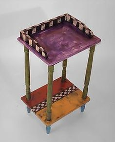 Tiny Tele Table: Wendy Grossman: Wood Side Table | Artful Home