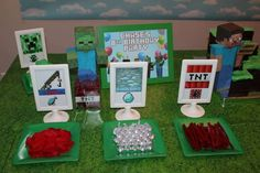 MineCraft Birthday Party Ideas | Photo 7 of 14 | Catch My Party