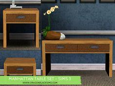 Manhattan Table Set - Sims 3 Buy Mode - Dragon Black Sims
