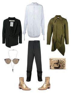 """""""mens street style"""" by statuslusso ❤ liked on Polyvore featuring Ann Demeulemeester, J.W. Anderson, Blood Brother, Yves Saint Laurent, Christian Dior, Loewe, DAMIR DOMA, men's fashion and menswear"""