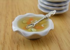 Healthy Vegetable Soup - 1:12 Dollhouse Miniature Food.