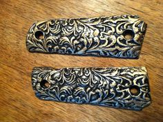 Vintage Victorian Era Look GRIPS for COLT 1911 45 KIMBER SIG SAUER Taurus ACP Caspian