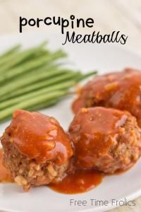 Porcupine Meatballs are a family favorite!!