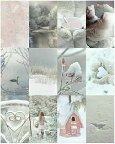 Pink winter - Collage by Renée