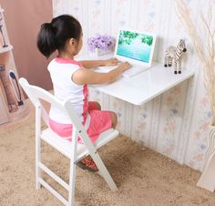 Wall Mounted Fold Down Table - Bing Images Wall Mounted Folding Table, Folding Walls, Fold Down Table, Minimalist Kids, Tiny Kitchens, Kids Play Area, Wood Creations, Furniture Arrangement, Kids Rooms