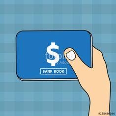 Vector: Bankbook vector design.