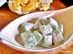 Mochi Bites (Japanese Sweet Rice Cake) Glutinous Rice Flour, Dough Cutter, Japanese Sweet, Rice Cakes, Latest Recipe, Bite Size, Mochi, Vegan Vegetarian, Food Print