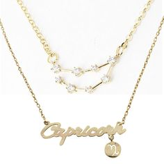 OMG love! Capricorn Constellation Zodiac Necklace
