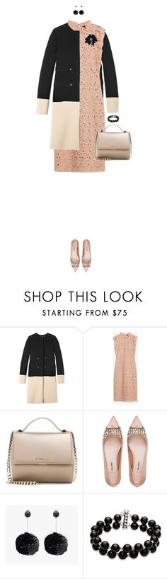 """Color Block Coat"" by ittie-kittie ❤ liked on Polyvore featuring Derek Lam, Zara, Givenchy, Miu Miu, Belk & Co., Lanvin, women's clothing, women, female and woman"