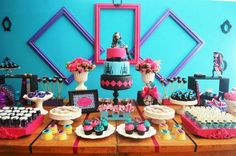 decoracao festa monster high