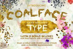 Coalface unique, rugged, rough hand-brushed typeface #bestfonts2015 #fontbundle #handmadefonts #calligraphyfonts #brushfonts