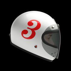 N°3 Ruby Castel helmet with visor