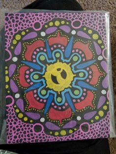 << MCOco - @_NamasteMJ >> Paint Pen on Black Canvas