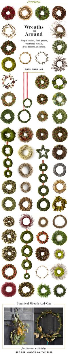 #Holiday #wreaths are all around at #shopterrain November 3