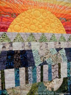 Stateline Road by Nancy Hawkes.  2015 AZQG, closeup photo by Quilt Inspiration