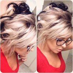 - Make up & hair - Color Ombre Hair, Hair Color And Cut, Hair Colors, Love Hair, Gorgeous Hair, Hair Today, Hair Dos, Pretty Hairstyles, Along The Way