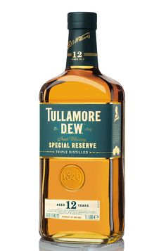 The whiskeys in the Tullamore Dew 12 Year Old Special Reserve have a very high concentration of pot still in addition to grain whiskeys, triple distilled between 12 and 15 years ago from unmalted as well as malted barley. It is a very fine aged whiskey with more complexity coming from the additio